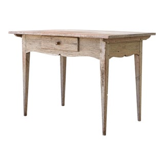 18th Century Swedish Gustavian Period Desk in Original Paint For Sale