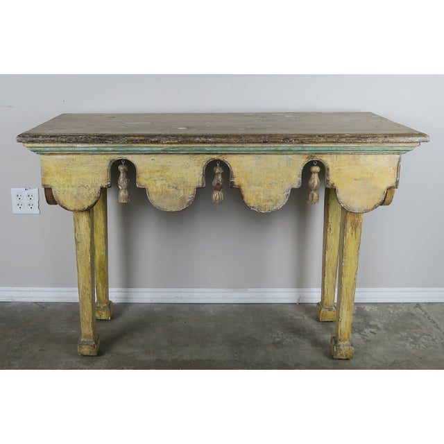Painted Italian Console W/ Tassels For Sale - Image 11 of 11
