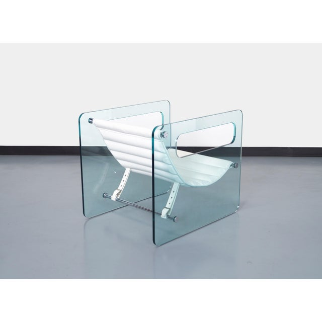 """Tonelli Italian """"Naked Glass Lounge Chairs by Giovanni Tommaso For Sale - Image 4 of 10"""