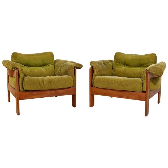 Pair of 1960s Mid-Century Modern N. Eilersen Danish Lounge Chairs For Sale