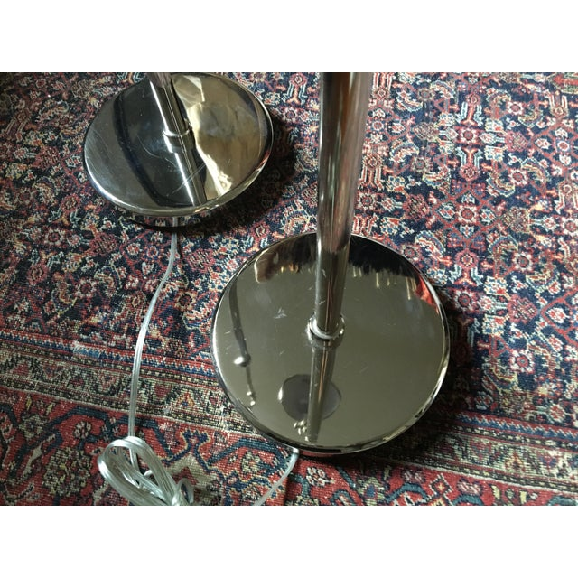 Ralph Lauren Polished Nickel Floor Lamps - A Pair - Image 10 of 10