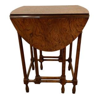 Georgian Style Baker Furniture Company Gate Leg Diminutive End Table For Sale
