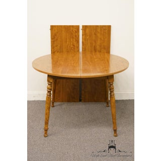 20th Century British Colonial Ethan Allen Heirloom Nutmeg Dining Table Preview