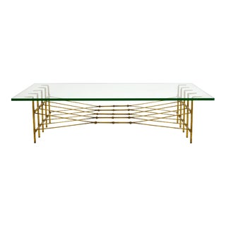 S. X. Graham Gilt Iron Coffee Table For Sale