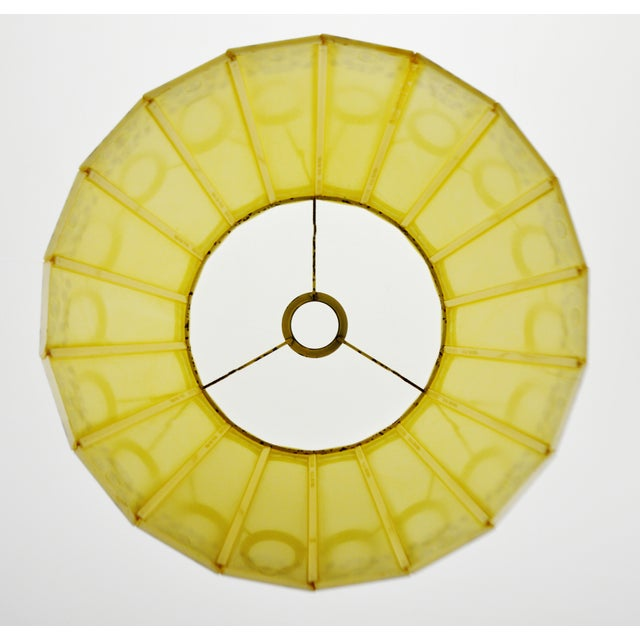 Plastic Mid Century Emeloid Lampshade For Sale - Image 7 of 13
