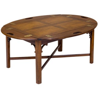 Tray-Style Butler's Coffee Table For Sale