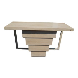 1970s Art Deco Style Beige Console Table For Sale