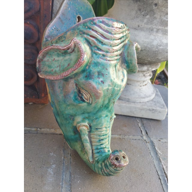Vintage Elephant Wall Vase - Image 3 of 6