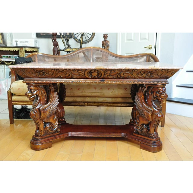 (YOU CAN MAKE REASONABLE OFFERS.) This table after a design by R. J. Horner can be used as a dining table, library table...