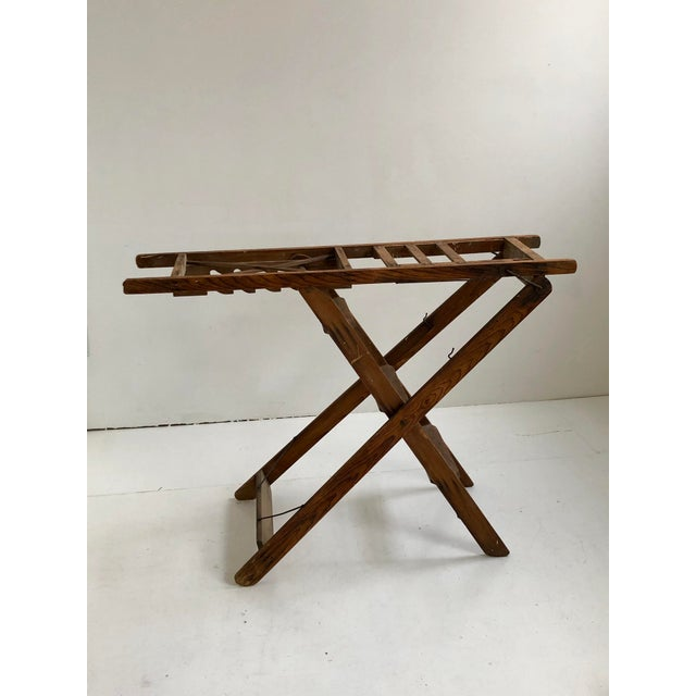 Vintage 5 step multipurpose step ladder. The ladder also functions as a table. Has 5 height settings in table mode....