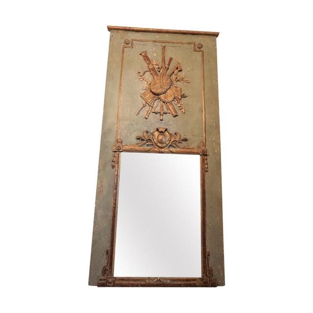 Louis XVI Trumeau Mirror For Sale - Image 11 of 11