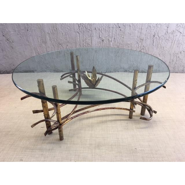 "1960s ""Lotus"" Coffee Table Attributed to Silas Seandel For Sale - Image 5 of 8"