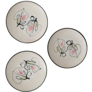 Vintage Mid Century Modernist Japanese Canape Plates - Set of 3 For Sale