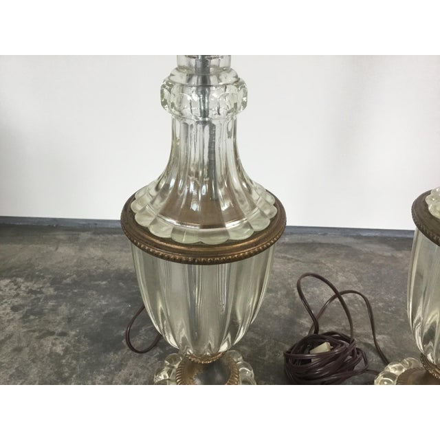 1900 - 1909 1900s Glass Table Lamps - a Pair For Sale - Image 5 of 10