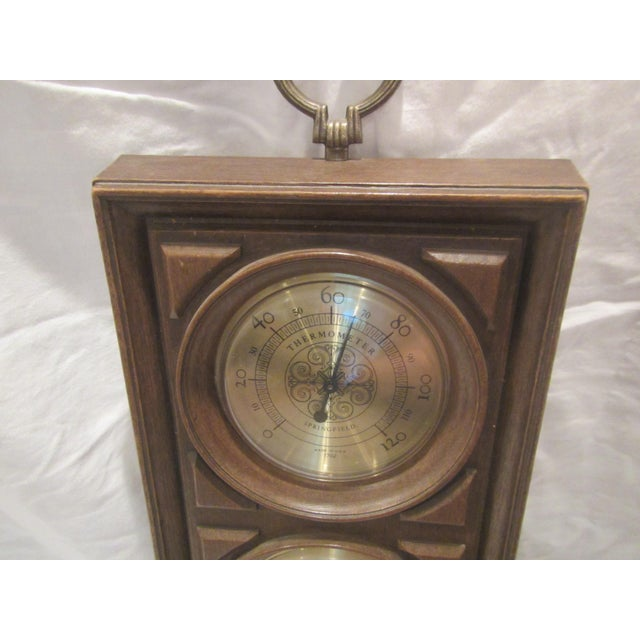 1960s Mid-Century Springfield Thermometer, Barometer, and Humidity Meter For Sale - Image 5 of 8