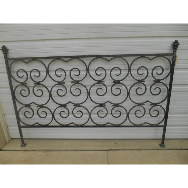Custom Built Wrought Iron King Size Bed - Image 3 of 5