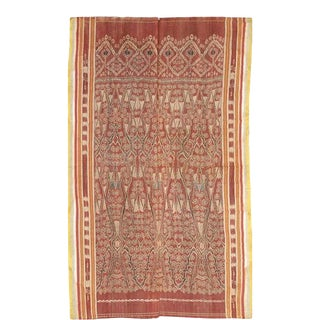 Antique Ikat Pua from Borneo Indonesia For Sale