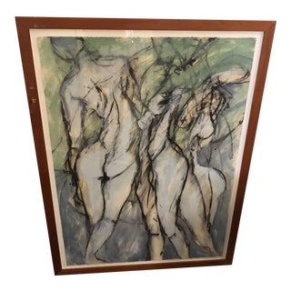 Large Sensual Painting of Nudes by Gary Welton For Sale