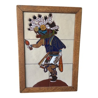 1977 Santa Fe Kachina Dancer Territorial Tiles For Sale