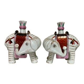 Pair of Mottahedeh Elephant Candlesticks For Sale