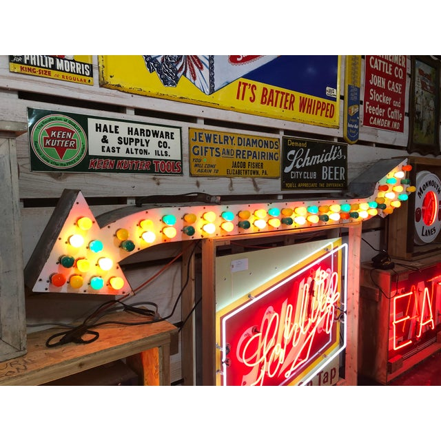 1930s 1930's Light Up Arrow Sign For Sale - Image 5 of 8