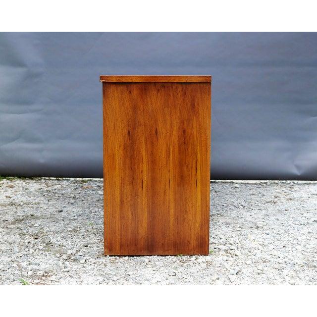 Brown Modern Nine Drawer Low Boy Dresser For Sale - Image 8 of 10