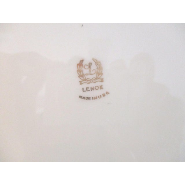 Ceramic Lenox Petite Four Serving Platter For Sale - Image 7 of 8