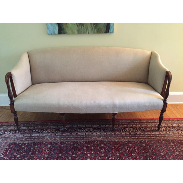 Antique Sheraton Mahogany Sofa - Image 6 of 6