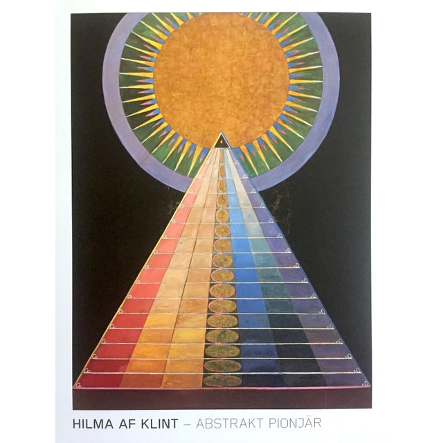 "2010s Hilma Af Klint Abstract Lithograph Print Moderna Museet Sweden Exhibition Poster "" Altarpiece No.1 Group X "" 1915 For Sale - Image 5 of 13"