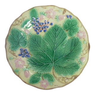 Majolica Wedgwood Decorative Plate For Sale