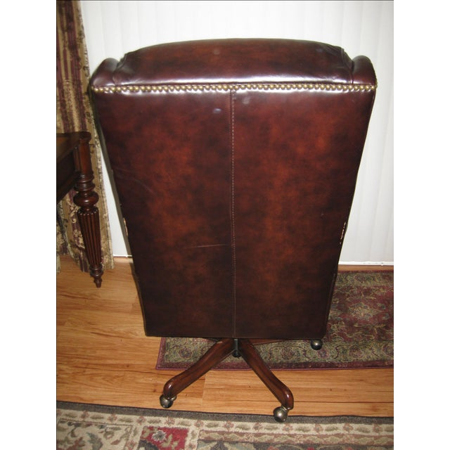 Hooker Leather Office Chair - Image 5 of 10