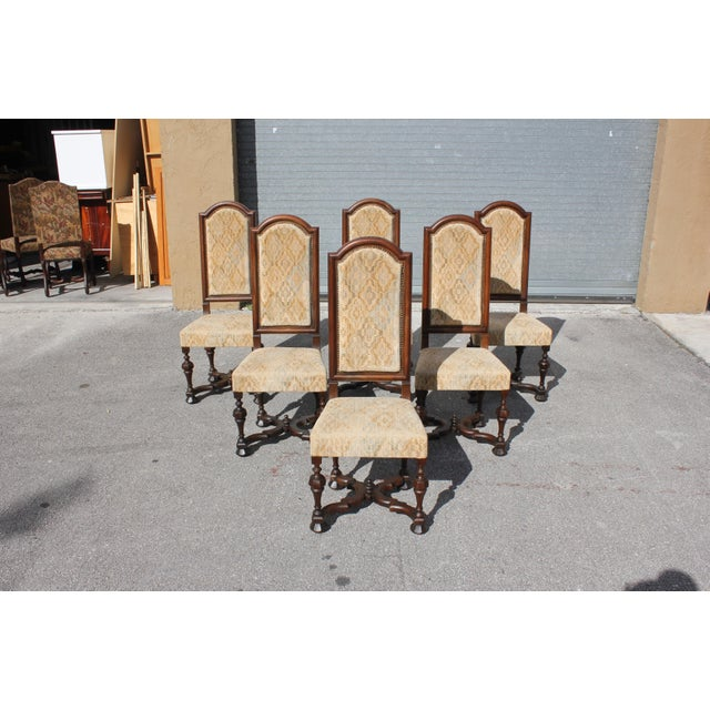 1900s Vintage French Louis XIII Style Dining Chairs - Set of 6 For Sale - Image 13 of 13