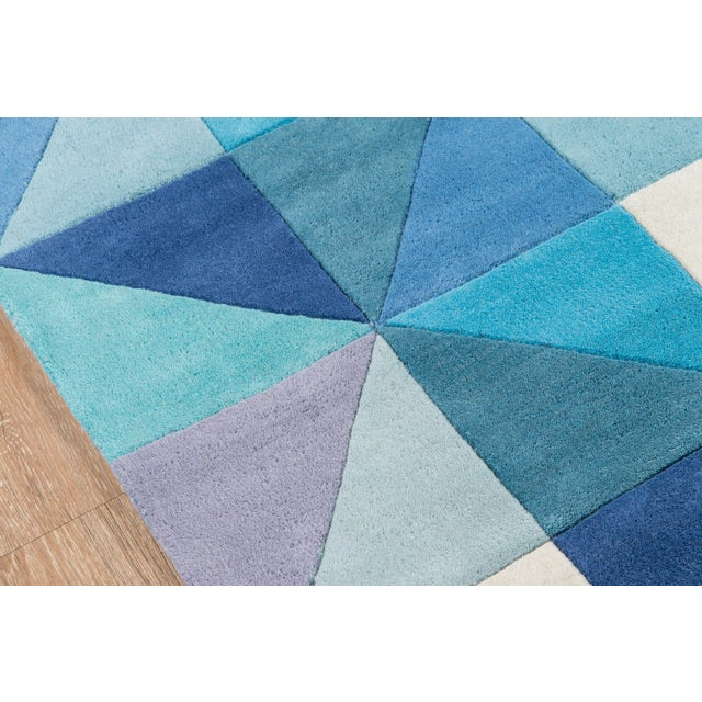 Contemporary Momeni Delhi Hand Tufted Blue Wool Area Rug - 5' X 8' - Image 3 of 6