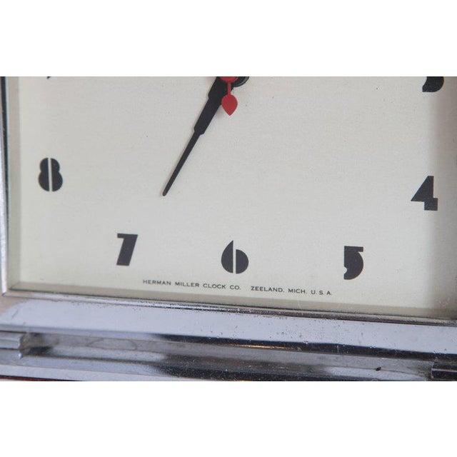 Herman Miller Machine Age Art Deco Gilbert Rohde for Herman Miller Original Working Clock For Sale - Image 4 of 11