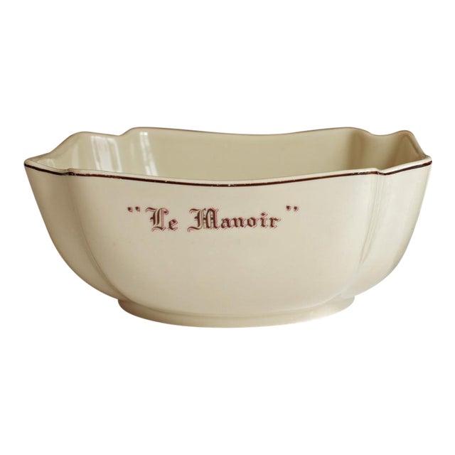 """Vintage French """"Le Manoir"""" Porcelain Serving Bowl - Image 1 of 5"""
