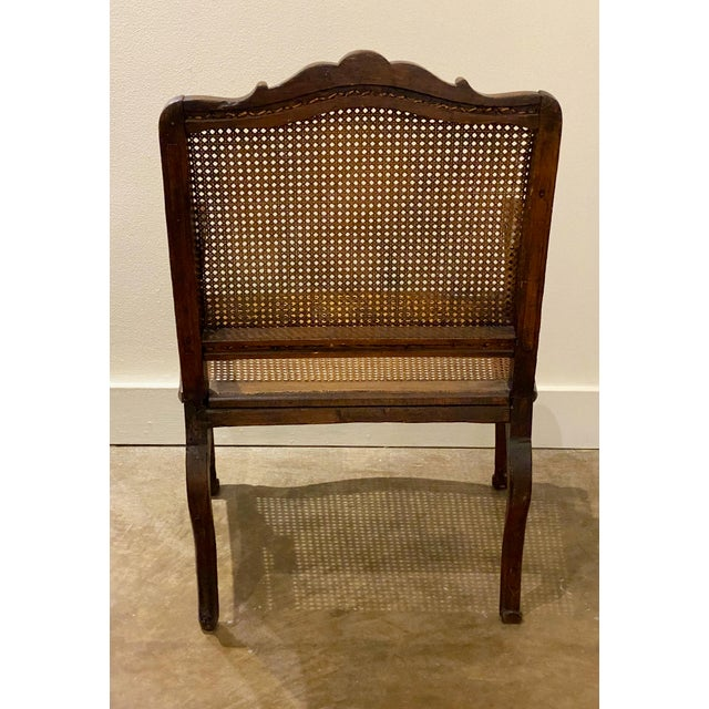 Mid 18th Century French Cane Arm Chair For Sale - Image 9 of 11