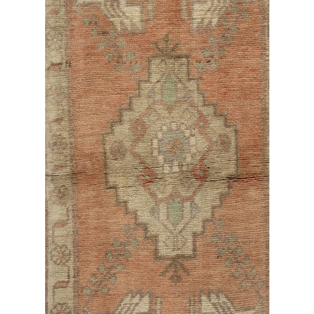 Vintage Turkish Yastik Hand Knotted Rug A vintage 1950 Turkish Yastik. Yastik's are small size rugs that are adaptions of...