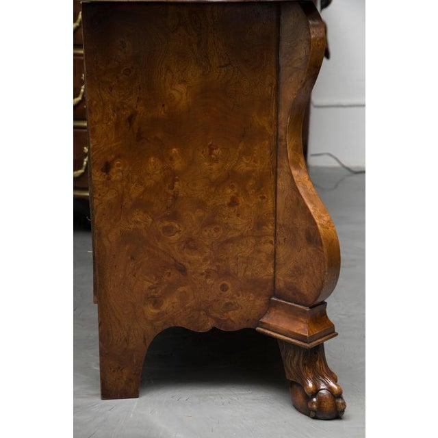 19th Century Dutch Rococo Walnut Bombe Chest - Image 4 of 7
