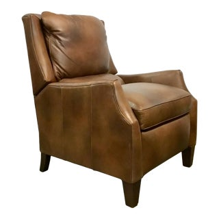 Thomasville Transitional Brown Leather Max Recliner For Sale