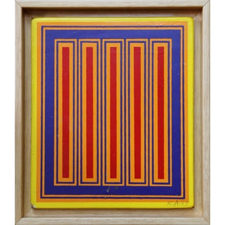 "Richard Anuszkiewicz, ""Annual Edition"", Op Art Painting on Masonite For Sale"