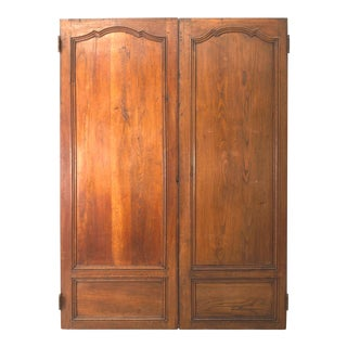 French Provincial Walnut Door Panels - a Pair For Sale