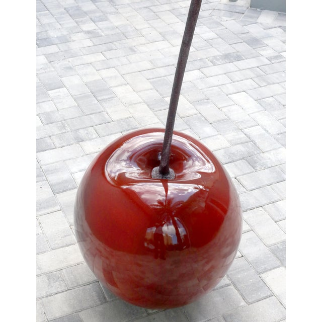 Monumental 4.5 Foot Tall Red Cherry Sculpture Pop Art For Sale - Image 4 of 10