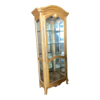 French Ethan Allen Curio Cabinet For Sale