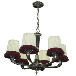French Art Deco Ruhlmann Style Chandelier For Sale