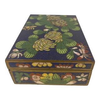 Vintage Chinese Cloisonne Hinged Box For Sale
