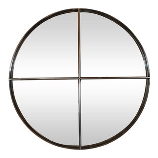 Circular Quartered Mirror by Saporiti For Sale