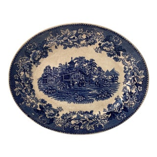 1930s Thomas Hughes & Son Avon Cottage Transfer Plate For Sale