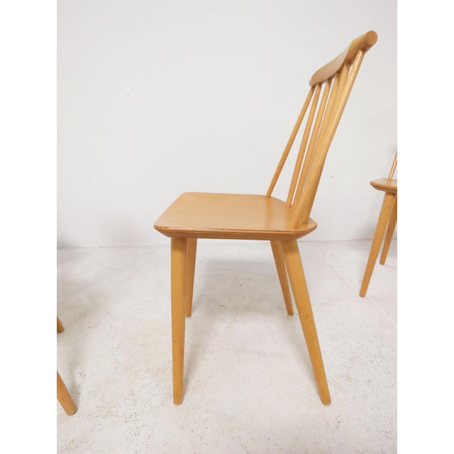 Set of Four Folke Palsson for Fdb Mobler, Denmark Dining Chairs, Circa 1975 For Sale In Boston - Image 6 of 11