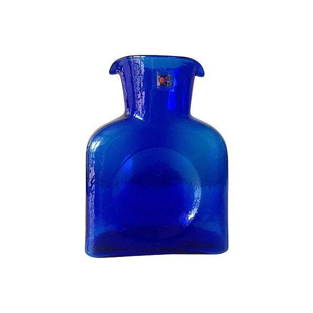 Blenko Cobalt Blue Carafe - Image 1 of 5
