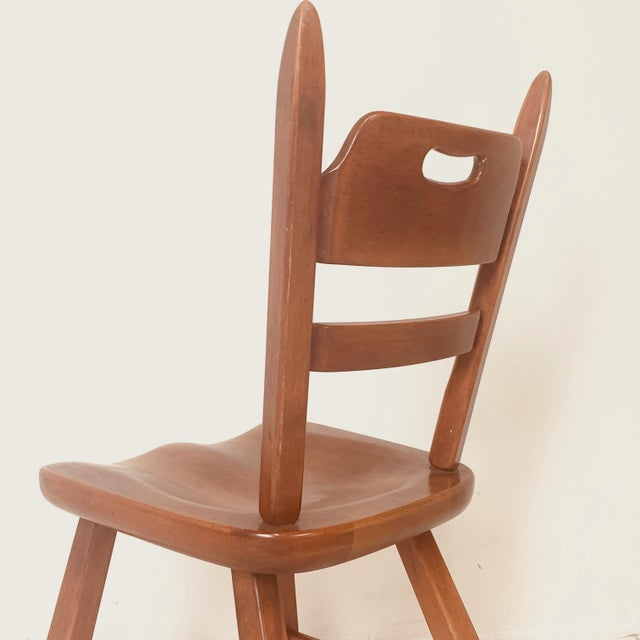 Set of 6 Cushman Vermont Rock Maple Dining Chairs Designed by Herman DeVries For Sale - Image 11 of 13